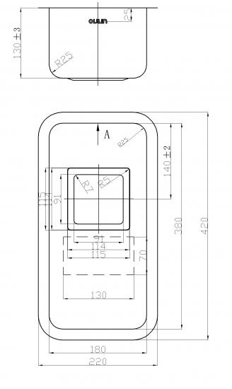 Мойка Oulin OL-0361 square